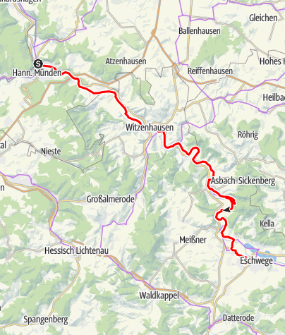 Karte / Rundtour Hann.Münden T1