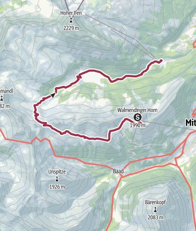 Karte / Vom Walmendinger Horn ins Schwarzwassertal