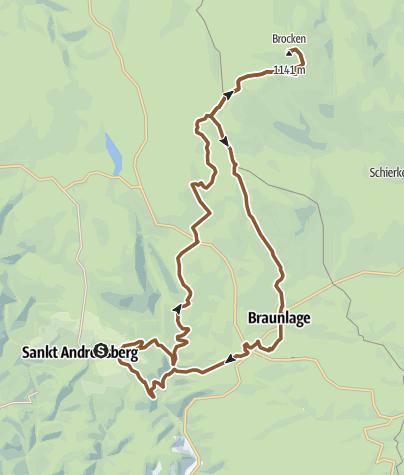 Karte / St. Andreasberg - Brocken und zurück