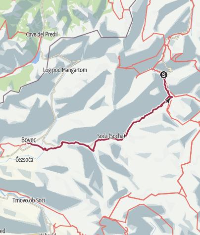 Karte / Soča Valley  Triglav National Park