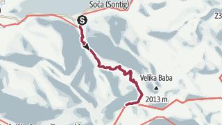 Map / Day 4 (optional) - Soca Camping to mountain lake