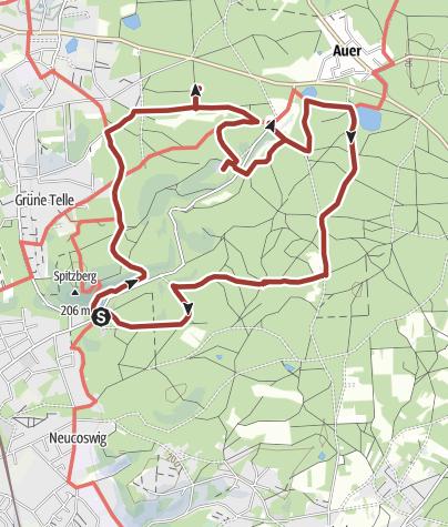 Karte / Waldbilder und Kulturlandschaft im Friedewald