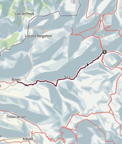 Karte / J4 bis Trenta - Bovec