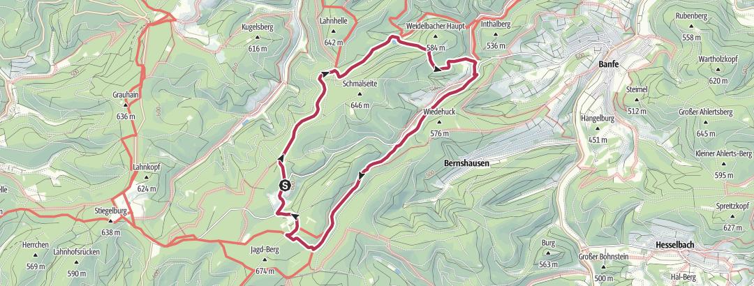 Map / Heiligenb.-Weidelbacher Weiher-Ilsetal-Heiligenb.