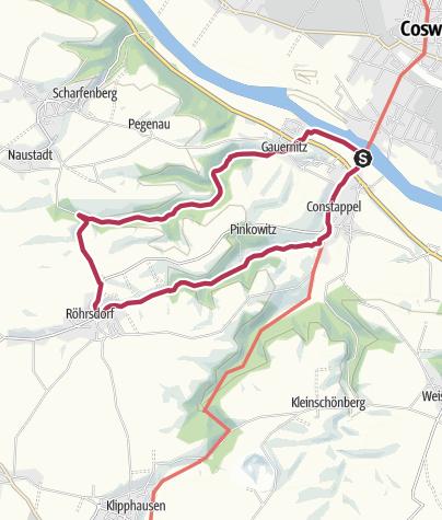 Karte /  Durch das Gauernitzbach- und Regenbachtal