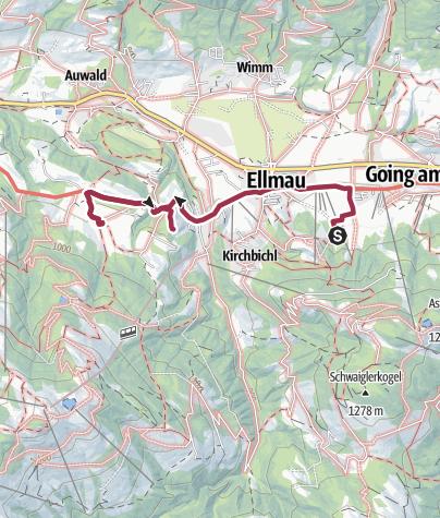 Karte / ellmau nach der mittagspause