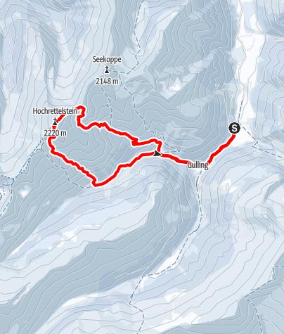 Karte / Hochrettelstein Südabfahrt