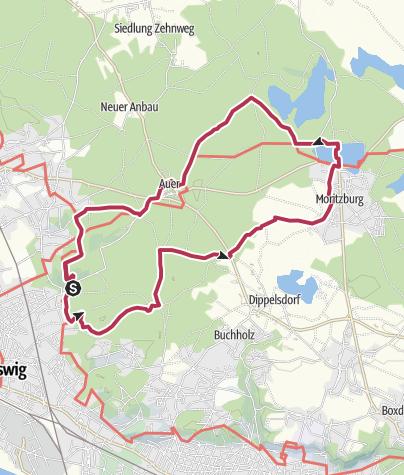 Karte / Sport- und Freizeitwanderung Friedewald Tour 3