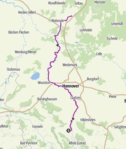 Karte / Leine-Heide-Radweg Teil 2