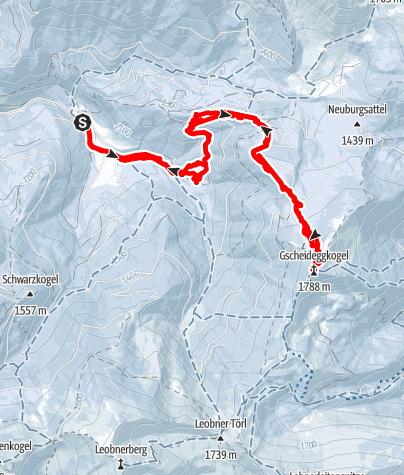 Karte / Gscheideggkogel über Zeiringeralm