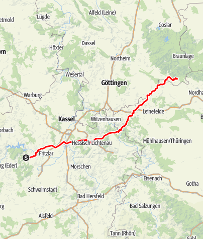 Karte / D-Tour 2020 E2 Bad Wildungen-Bad Sachsa
