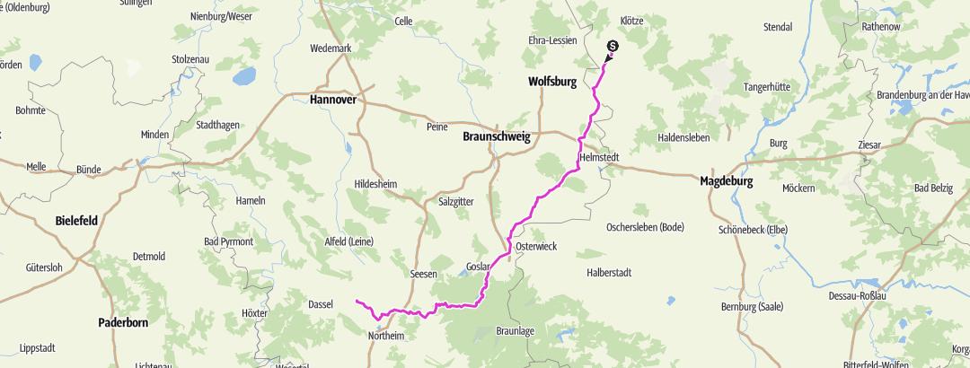 Karte / D-Tour 2020 E7 Röwitz-Einbeck