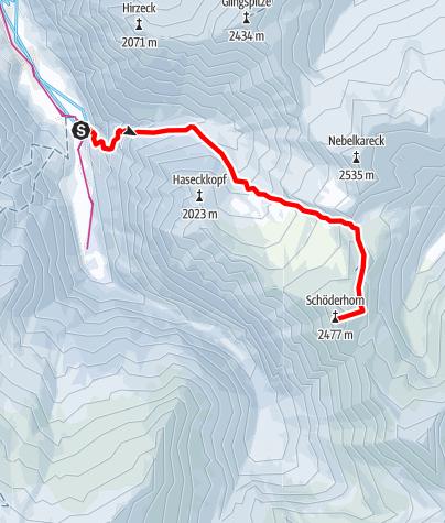 Karte / schöderhorn