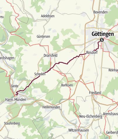 Karte / Göttingen nach Hann. Münden [107 Berlin Nizza +]