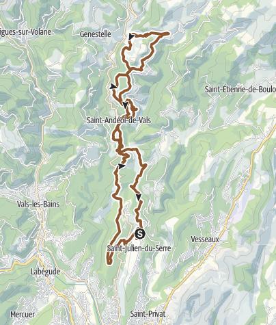 Carte / MTB saint-julien-du-serre (Ardéche)