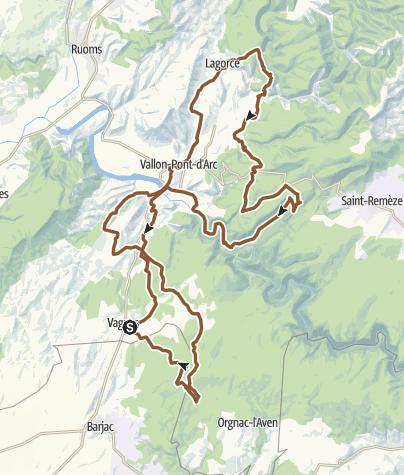 Carte / MTB Sortie dans les gorges de l'Ardèche