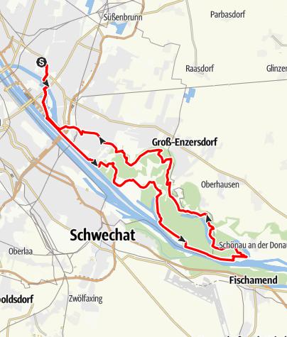 Karte / Radtour Lobau
