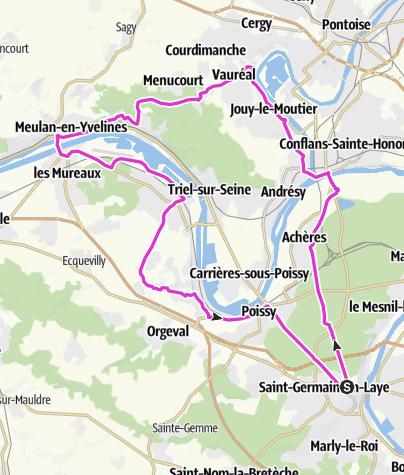 Carte / Boucle Val d'Oise-Yvelines