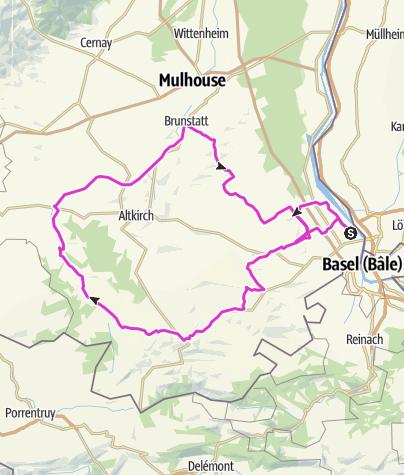 Carte / En balade le long du Canal, du Rhône au Rhin