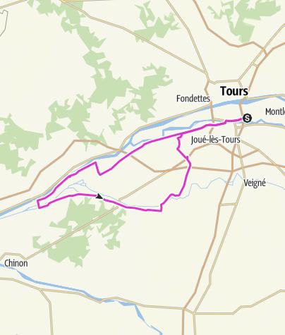 Carte / Parcours Vélo Tours'n Man L