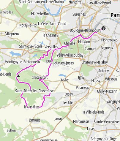 Carte / Vallée de Chevreuse