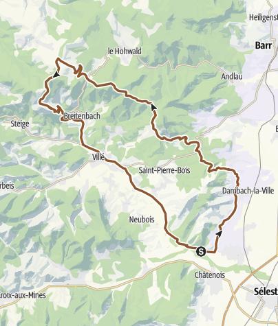 Carte / Chatenois champs du feu