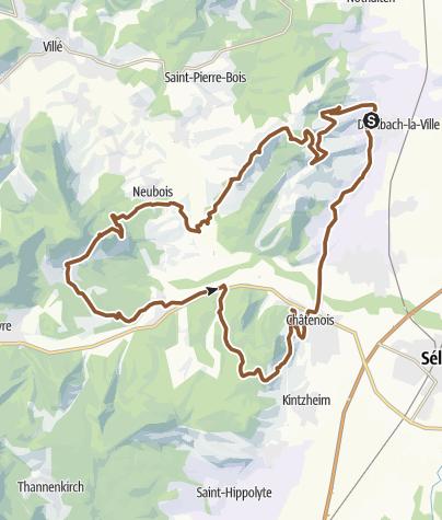 Carte / Château Bernstein - col de Franckenbourg - La Wick