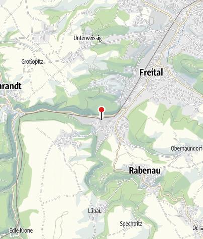 Karte / S-Bahnhof Freital-Hainsberg West