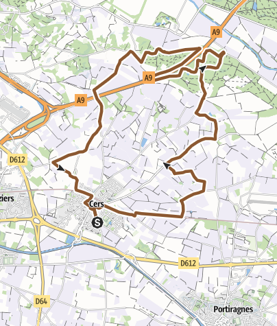 Carte / Circuit VTT n°7: De Cers à Bourbaki