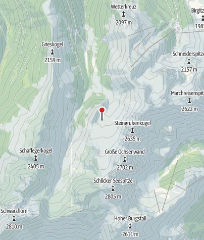 Kaart / Adolf Pichler Hütte