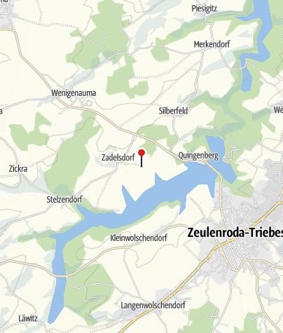 Mapa / Vermietergemeinschaft Eulenpark im Bungalowdorf Zadelsdorf