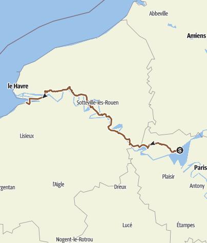 Carte / Pontoise - Honfleur