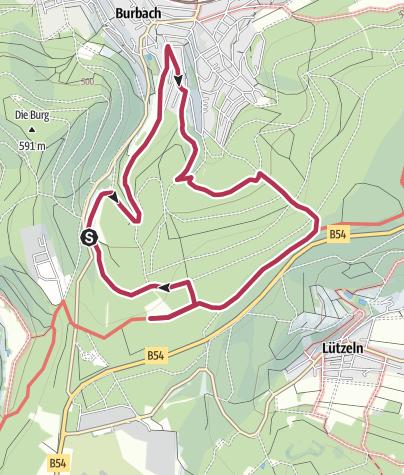 Map / Gambach und Hirtenwiese – Juniper heath south of Burbach