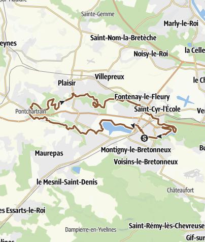 Carte / Homme Mort-bois d'arcy 44km