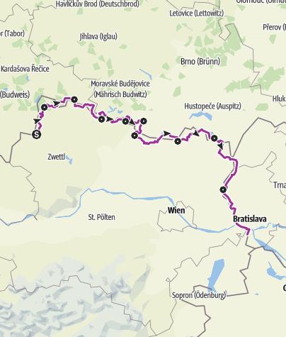 Map / Iron Curtain Trail - EuroVelo 13