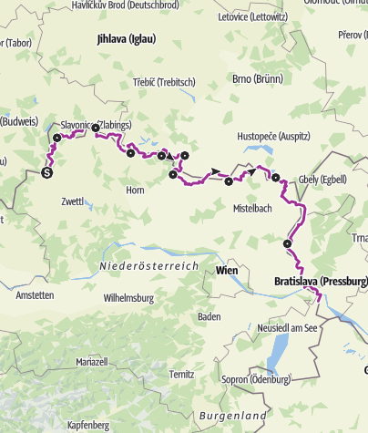 Map / Iron Curtain Trail - EuroVelo 13