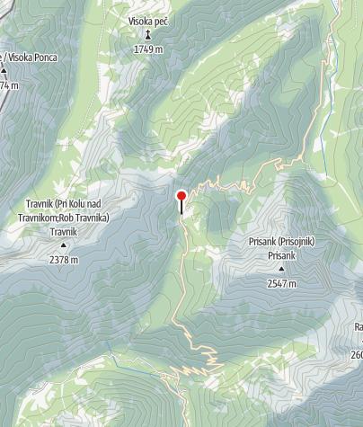 Map / Parkplatz am Vršič Sattel
