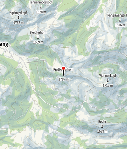 Karte / Riedberger Horn