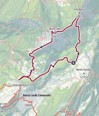 Karte / Anello Monte Stivo