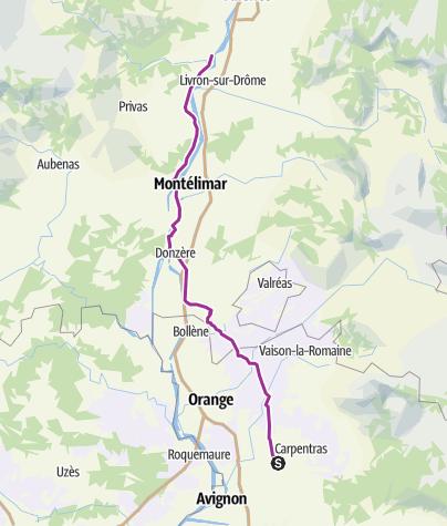 Carte / Monteux - Beauchastel 4
