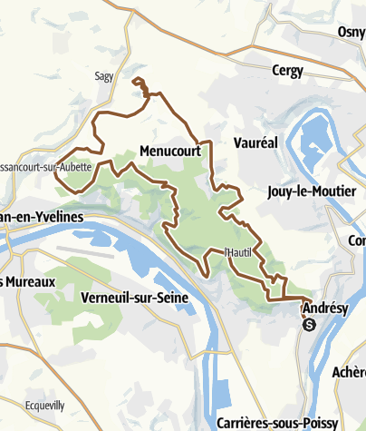 Carte / Hautil - Vexin 2