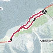 Map / Von Pfelders zum Lazinser Kaser