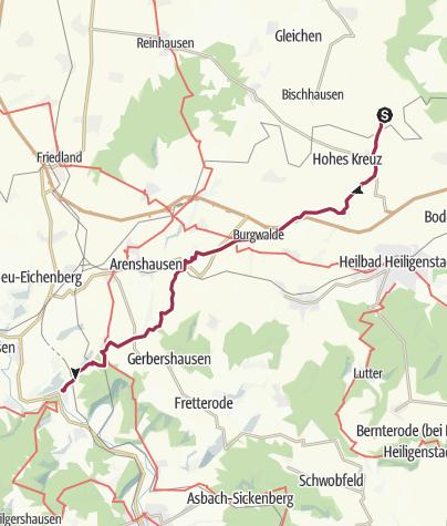Karte / Weißenborn nach Werleshausen
