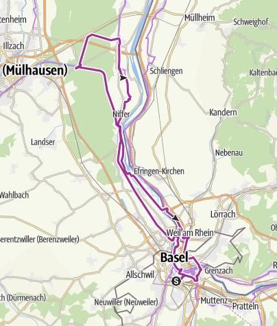 Carte / Pro Senectute Tour Basel-SBB - Ottmarsheim retour