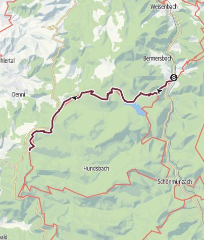 Map / Westweg: stage 03 (Forbach - Unterstmatt)