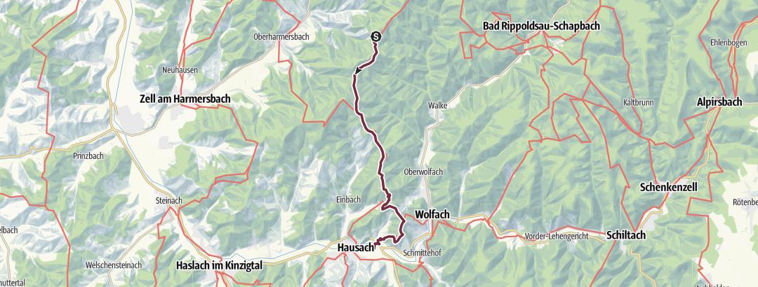 Map / Westweg: stage 06 (Hark - Hausach)