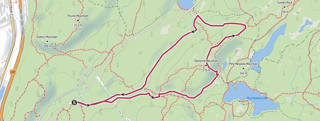 Karte / Diamond Mountain/Stony Brook Loop