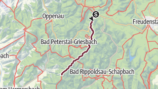 Karte / Westweg-Etappe 05: Alexanderschanze - Hark
