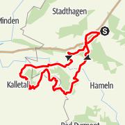 Karte / RTF Lauenau Tour 3