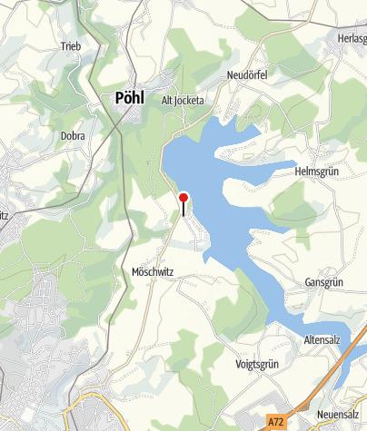 Karte / E-Bike Verleih: Talsperre Pöhl (Campingplatz Gunzenberg)